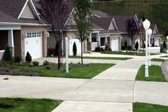 Nuevo hogar - casas de carro Imagen de archivo libre de regalías