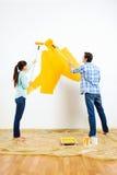 Nuevo hogar de pintura foto de archivo