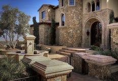 Nuevo hogar ideal moderno en Arizona, los E.E.U.U. Foto de archivo libre de regalías