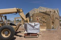 Nuevo hogar moderno bajo construcción Imagen de archivo