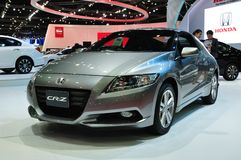 Nuevo Honda CR-Z en la exhibición Fotos de archivo
