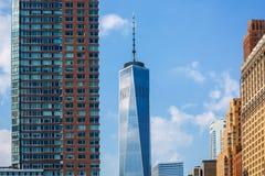 Nuevo horizonte Freedom Tower los E.E.U.U. del Lower Manhattan Fotos de archivo