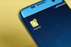 Nuevo icono del mensaje de Snapchat Imagen de archivo libre de regalías