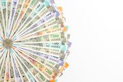 Nuevo indio 50, 100, 200, 500 rupias de billetes de banco Fondo ornamental del dinero colorido