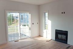 Nuevo interior casero inacabado foto de archivo libre de regalías