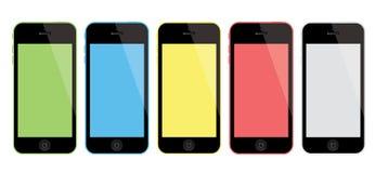 Nuevo iPhone 5C de Apple ilustración del vector