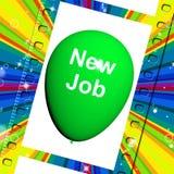 Nuevo Job Balloon Shows New Beginnings en carrera Imágenes de archivo libres de regalías