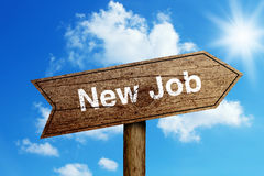 Nuevo Job Road Sign Imagen de archivo libre de regalías