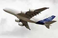 Nuevo jumbo estupendo A380 Foto de archivo libre de regalías