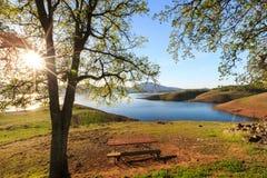 Nuevo lago Melones fotografía de archivo