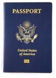 Nuevo libro del pasaporte de los E.E.U.U. Foto de archivo libre de regalías