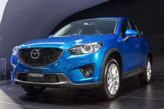 Nuevo Mazda en la trigésima expo internacional del motor de Tailandia el 3 de diciembre de 2013 en Bangkok, Tailandia Foto de archivo