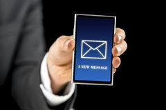 1 nuevo mensaje Foto de archivo