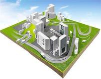 Nuevo modelo de la ciudad stock de ilustración