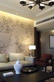 Nuevo modelo del diseño de la sala de estar del apartamento del estilo chino Fotos de archivo