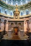 Nuevo monasterio de Jerusalén, Istra, Rusia el interior del panorama santo vivificante de la vertical del sepulcro Foto de archivo libre de regalías