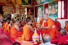 Nuevo monje budista Imagenes de archivo