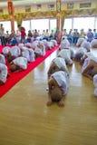 Nuevo monje en Chiang Mai, TAILANDIA. fotografía de archivo libre de regalías
