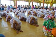 Nuevo monje en Chiang Mai, TAILANDIA imagen de archivo libre de regalías