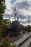 Nuevo monumento en Resita, Rumania imagen de archivo libre de regalías