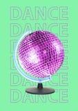 Nuevo mundo de la danza Diseño moderno Collage del arte contemporáneo libre illustration