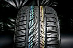 Nuevo neumático del invierno Fotografía de archivo