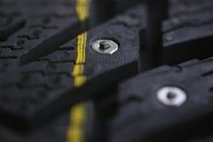 Nuevo neumático tachonado Fotos de archivo