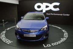 Nuevo OPC 2013 de Opel Astra - demostración de motor de Ginebra 2012 Fotografía de archivo libre de regalías