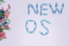 Nuevo OS Fotografía de archivo