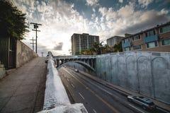 Nuevo paisaje urbano del día fotografía de archivo libre de regalías