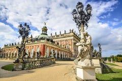Nuevo palacio en el parque de Sanssouci imagen de archivo
