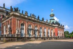 Nuevo palacio en el parque de Sanssouci en Potsdam Fotos de archivo