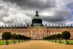 Nuevo palacio en el parque de Sanssouci, Potsdam, Imagen de archivo