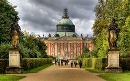 Nuevo palacio (Neues Palais) en Potsdam Fotos de archivo libres de regalías