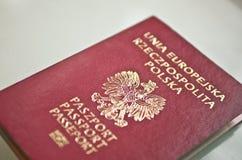Nuevo pasaporte polaco Fotografía de archivo