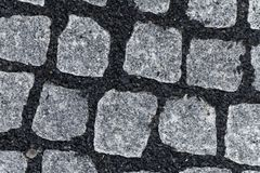 Nuevo pavimento del adoquín Fotos de archivo libres de regalías