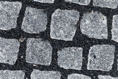 Nuevo pavimento del adoquín Imagen de archivo libre de regalías