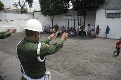 NUEVO PELOTÓN CONTRARIO MILITAR INDONESIO DEL TERRORISMO fotografía de archivo
