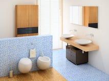 Nuevo pequeño cuarto de baño ilustración del vector