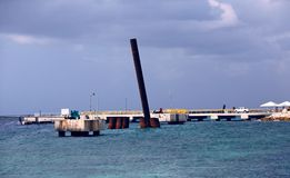 Nuevo Pier Construction foto de archivo libre de regalías
