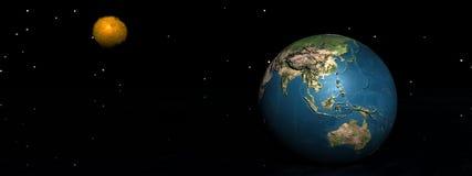 Nuevo planeta stock de ilustración