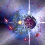 nuevo planeta en el mapa del espacio Imagen de archivo