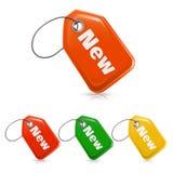 Nuevo precio, icono Fotos de archivo
