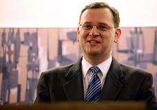 Nuevo primer ministro checo Petr Necas imagen de archivo libre de regalías
