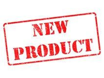 Nuevo producto - inscripción en sello de goma rojo. Imágenes de archivo libres de regalías