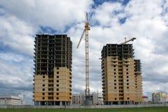 Nuevo proyecto de edificios Imagenes de archivo