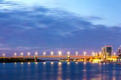 Nuevo puente, Astrakhan, Rusia foto de archivo