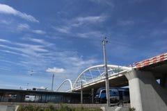 Nuevo puente blanco Fotografía de archivo libre de regalías