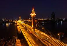 Nuevo puente de cuerda en Tailandia foto de archivo libre de regalías