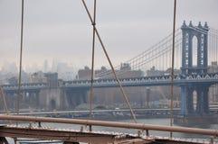 Nuevo puente de Jork Manhattan imagenes de archivo